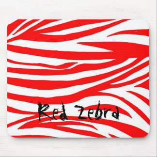 Red Zebra Mouse Pad
