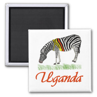 Red Zebra Series Square Magnet