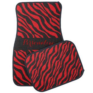 Red Zebra Stripe | Personalize Car Carpet