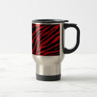 red zebra travel mug