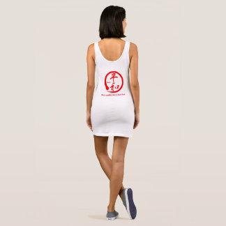 Red zen circle • Kanji symbol for peace Sleeveless Dress
