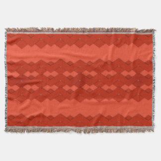Red Zigzag Comfy Throw Blanket