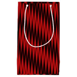 Red Zigzag Small Gift Bag