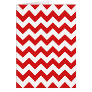 Red Zigzag Stripes Chevron Pattern Card