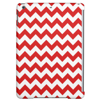 Red Zigzag Stripes Chevron Pattern iPad Air Cover