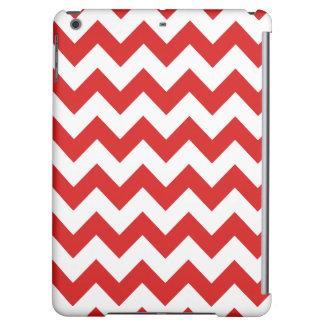 Red Zigzag Stripes Chevron Pattern iPad Air Covers