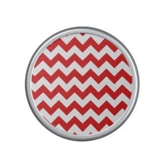 Red Zigzag Stripes Chevron Pattern Speaker