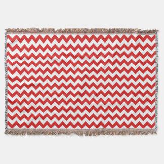 Red Zigzag Stripes Chevron Pattern Throw