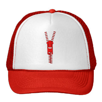 Red Zipper with Love Trucker Hat
