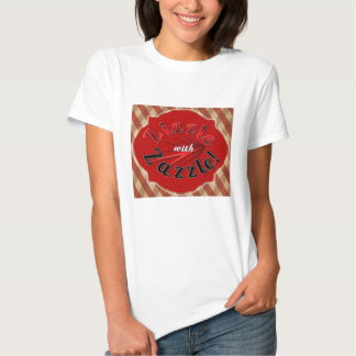 "Red ""Zizzle with Zazzle"" t-shirt"
