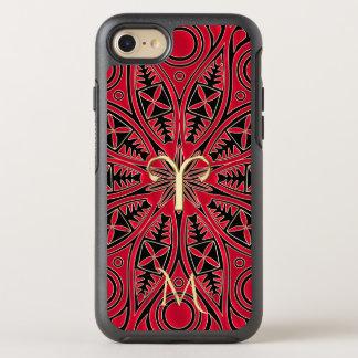 Red Zodiac Sign Aries Mandala Monogram iPhone Case