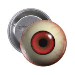 Red Zombie Eye-ball Badge 2 Inch Round Button