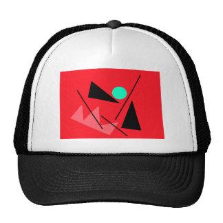redabstract (2) trucker hat