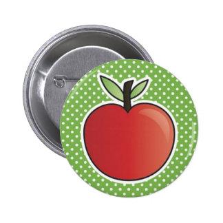RedAppleOnGreen 2 Inch Round Button