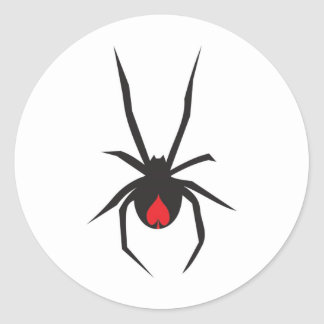 Redback Spade Classic Round Sticker