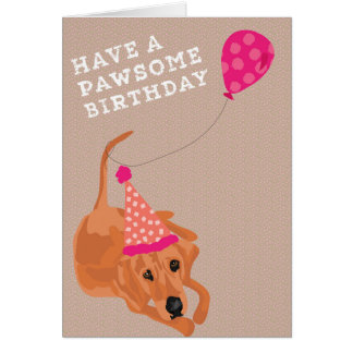 Redbone  Coonhound  Birthday Card