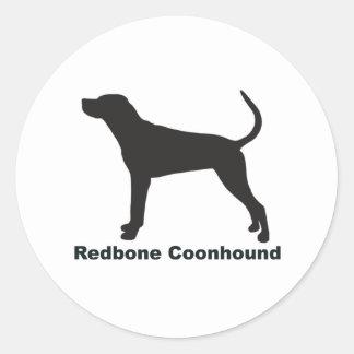Redbone Coonhound Classic Round Sticker