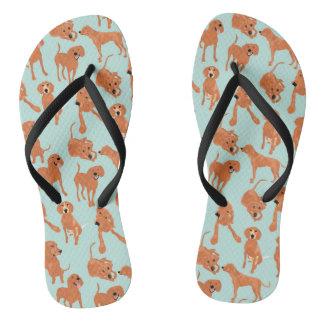 Redbone  Coonhound  Flip Flops