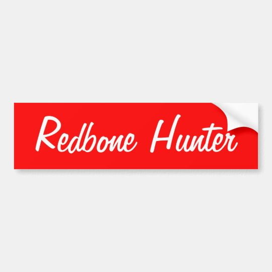 Redbone Hunter Bumper Sticker