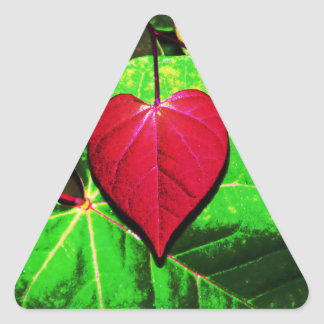 Redbud Heart Leaf Triangle Sticker