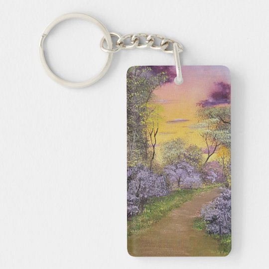 Redbud Lane Double-Sided Rectangular Acrylic Keychain