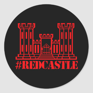 #Redcastle Combat Engineer (Large Castle) Classic Round Sticker