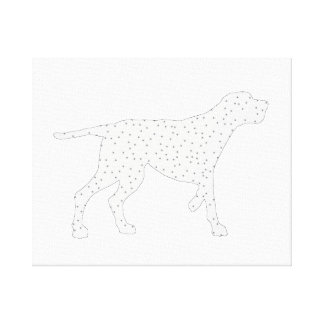 Redcone coonhound canvas print