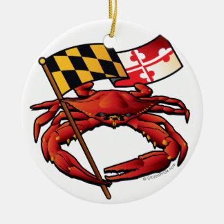 RedCrab_MD_banner.ai Ceramic Ornament