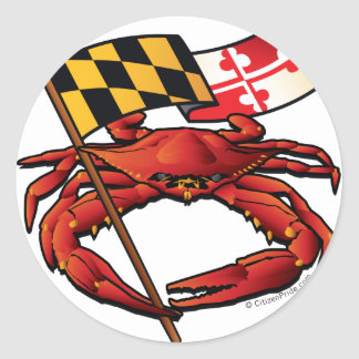 RedCrab_MD_banner.ai Classic Round Sticker