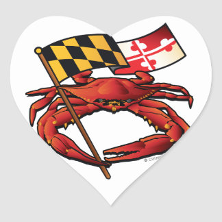 RedCrab_MD_banner.ai Heart Sticker
