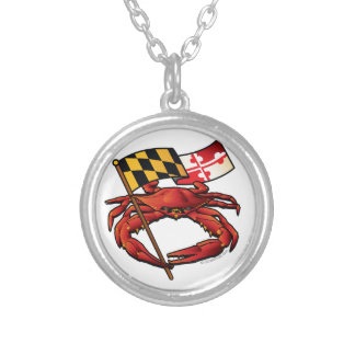 RedCrab_MD_banner.ai Silver Plated Necklace