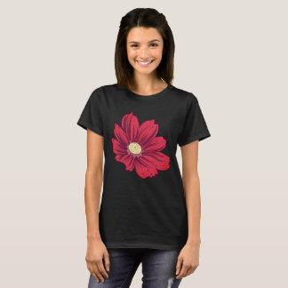 Reddish Blooming Flower T-Shirt
