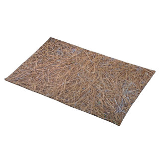 Reddish brown pine straw needles photo placemat