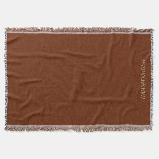 Reddish-Brown Throw Blanket - HAMbyWhiteGlove