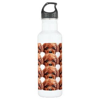 Reddish brown Toy poodle, Original by miart 710 Ml Water Bottle