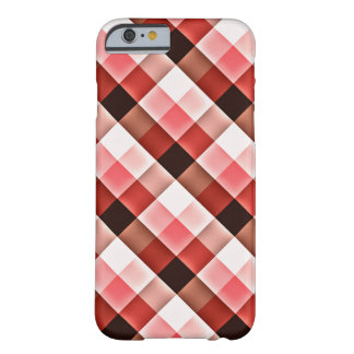 Reddish Checker Pattern Barely There iPhone 6 Case