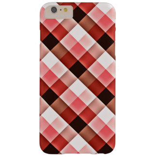 Reddish Checker Pattern Barely There iPhone 6 Plus Case