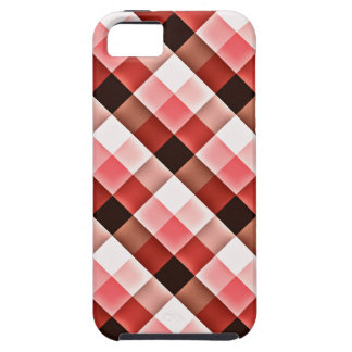 Reddish Checker Pattern iPhone 5 Cases