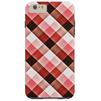 Reddish Checker Pattern Tough iPhone 6 Plus Case
