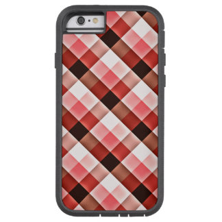 Reddish Checker Pattern Tough Xtreme iPhone 6 Case