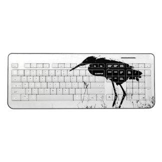 Reddish Egret Bird Animal Coast Wireless Keyboard