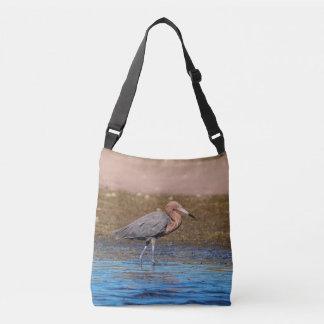 Reddish Egret on North Beach Crossbody Bag