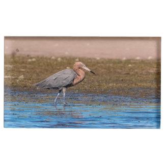 Reddish Egret on North Beach Table Card Holder