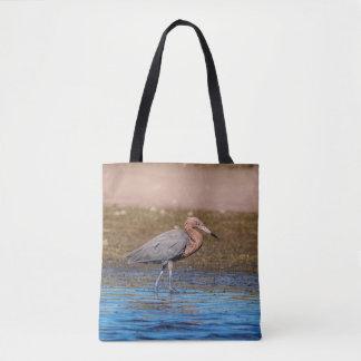 Reddish Egret on North Beach Tote Bag
