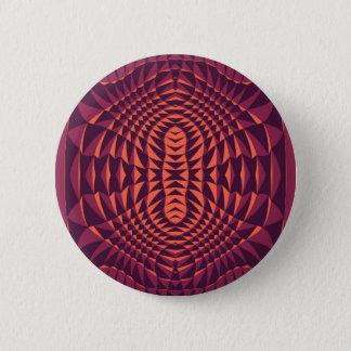 Reddish Modern Spiked design 2 Inch Round Button