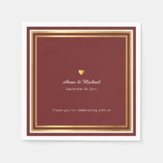 reddish wedding reception party standard napkins paper napkin