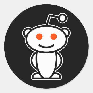 Reddit Alien Round Sticker