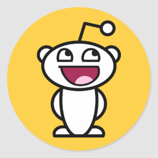 Reddit Awesome Face Round Sticker
