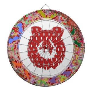 RedDot WhiteDot Wreath Design by Navin Dart Boards