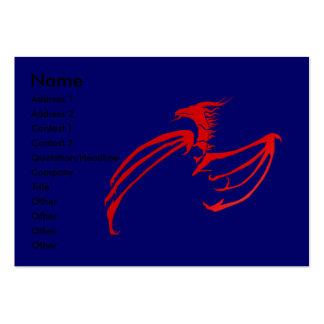 RedDraak Profile Card Large Business Card